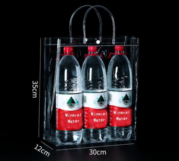 30*12*35cm Transparent Handle Soft PVC Bag