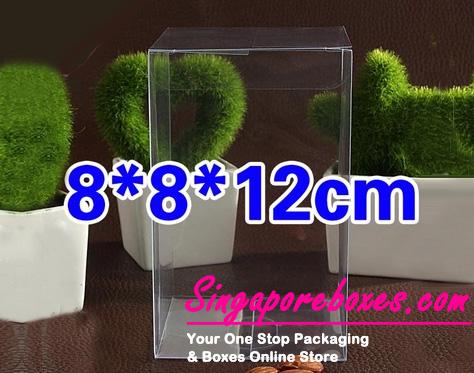 8*8*12cm Tuck Top Transparent Rectangular PVC Boxes