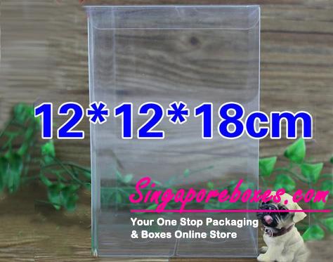 12*12*18cm Tuck Top Transparent Rectangular PVC Boxes