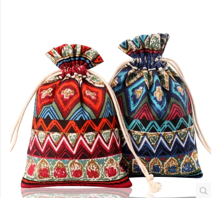 10*14cm High Grade Print Pattern Cotton Bag 04  (Multiple Patterns & Sizes)