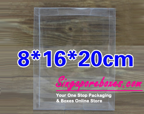 16*8*20cm Tuck Top Transparent Rectangular PVC Boxes