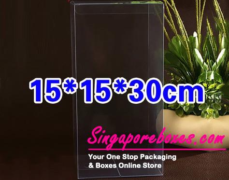 15*15*30cm Tuck Top Transparent Rectangular PVC Boxes