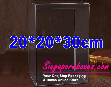 20*20*30cm Tuck Top Transparent Rectangular PVC Boxes