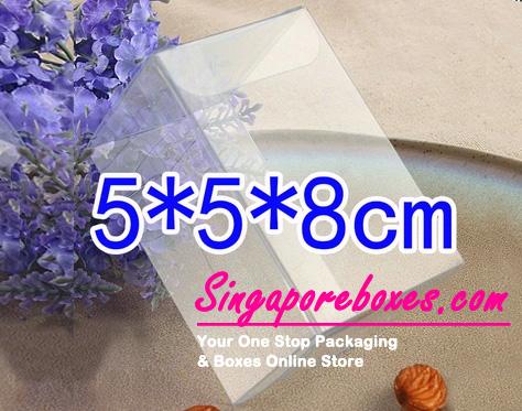 5*5*8cm Tuck Top Transparent Rectangular PVC Boxes