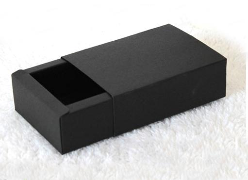 Standard Size Black Color Paperboard Box  (10 Sizes)