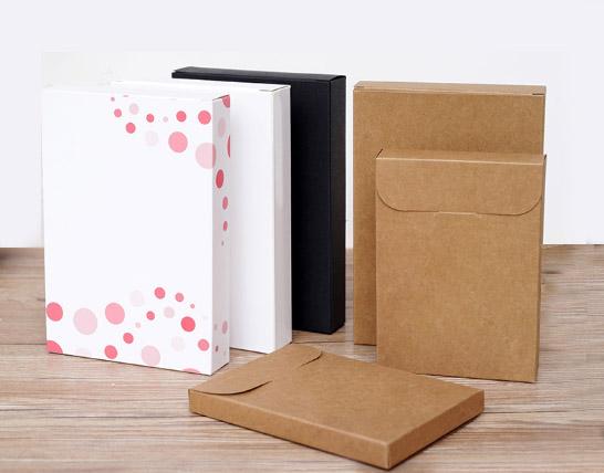 Slim Size Rigid Kraft Paper Boxes (6 Sizes)