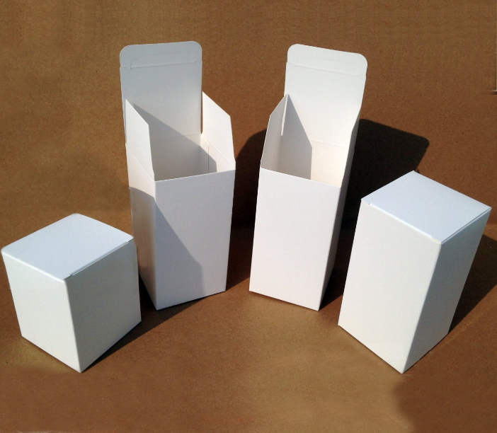 6*6*6cm 350g Cubic White Paperboard Box (9 Sizes)