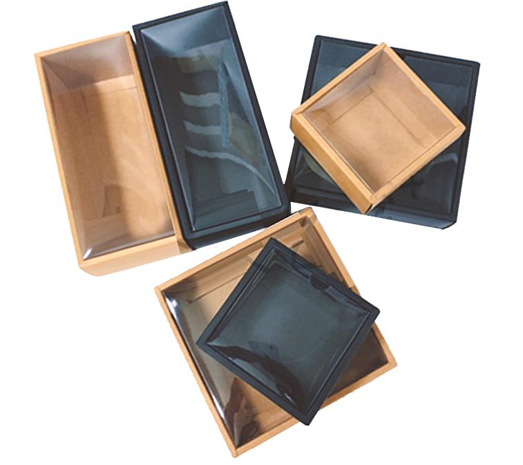10*10*5cm Lid Top PVC Cover Kraft Paper Box (Mutiple Sizes)