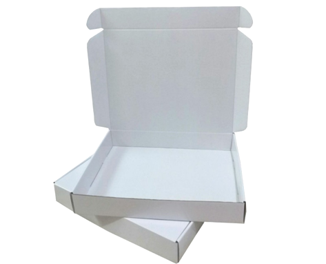 White Corrugated Packaging Boxes  (thickness about 1.3mm, Multiple Sizes)